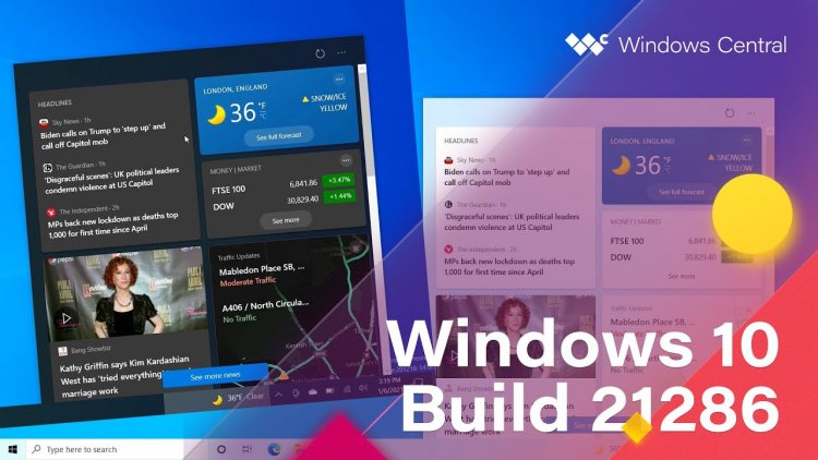 Windows 10 Build 21286 - Taskbar, Settings + MORE - Windows Central