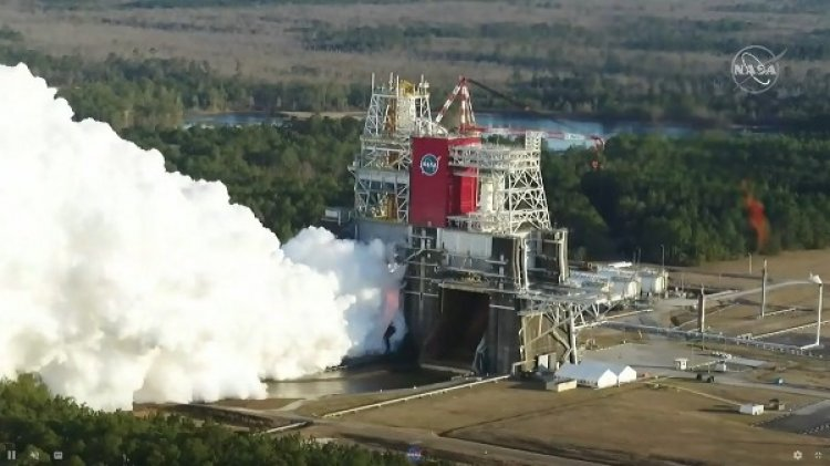 NASA Ignites Moon Rocket For Crucial Tests; Lookout For Heavy-Lift Rockets Alternatives - Gizbot
