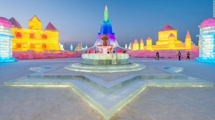 Spectacular city carved from snow and ice rises in China