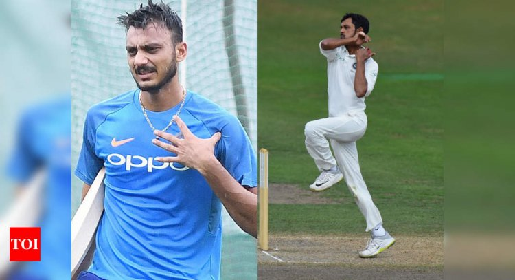 India vs England: Fit Axar back in nets, Nadeem set to be dropped for 2nd Test; pitch might offer more tu - Times of India