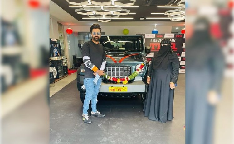 Indian Fast Bowler Mohammed Siraj Takes Delivery Of The Mahindra Thar Gifted By Anand Mahindra