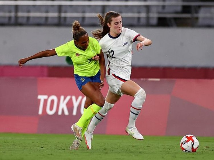 Sweden stuns US 3-0 in women's soccer at Tokyo Olympics