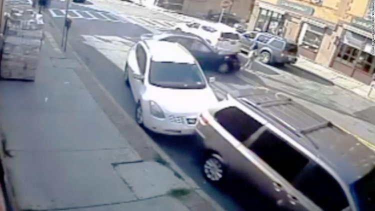 Cops rush to lift car off of trapped baby and mom