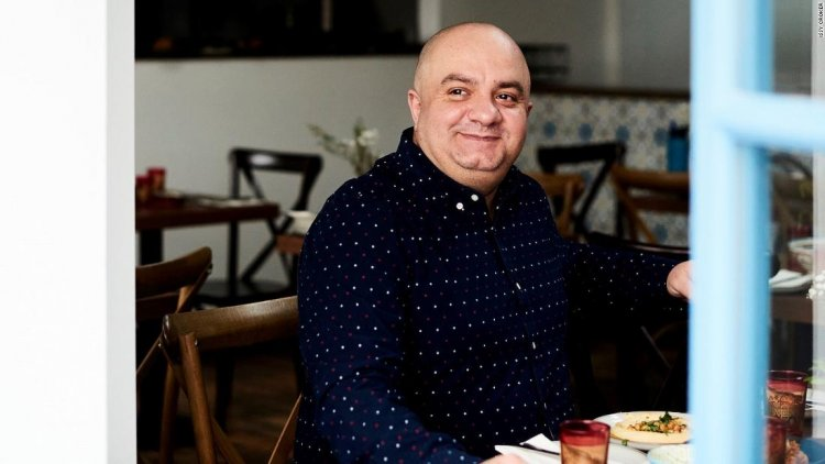 He left Syria as a refugee six years ago. Now he owns a successful London restaurant