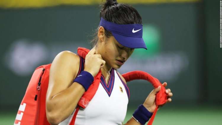 Emma Raducanu says she needs to cut herself 'some slack' after defeat at Indian Wells